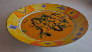 Coco ginger carrot soup