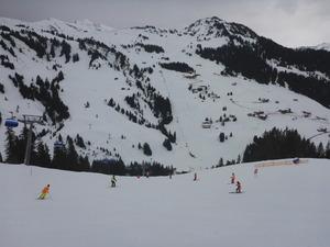 Skiing in damuels warth and diedamskopf