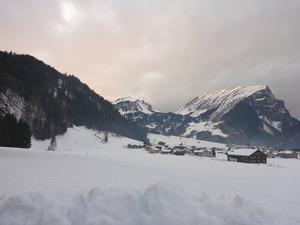 Skiing in damuels austria