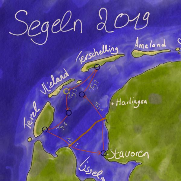Karte der Fahrt